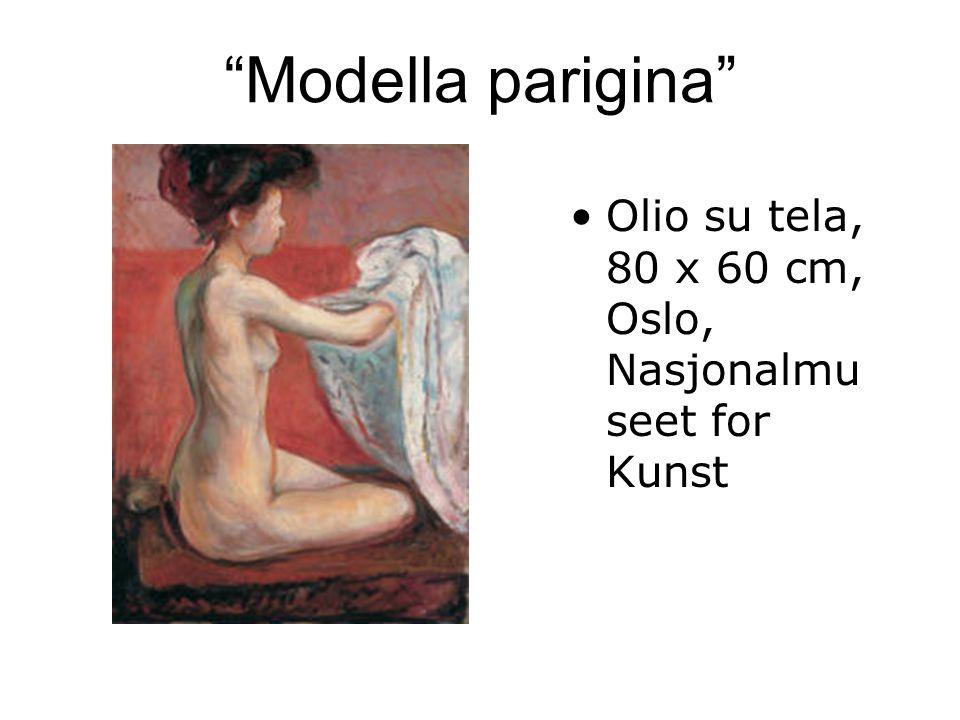 Modella parigina Olio su tela, 80 x 60 cm, Oslo, Nasjonalmuseet for Kunst
