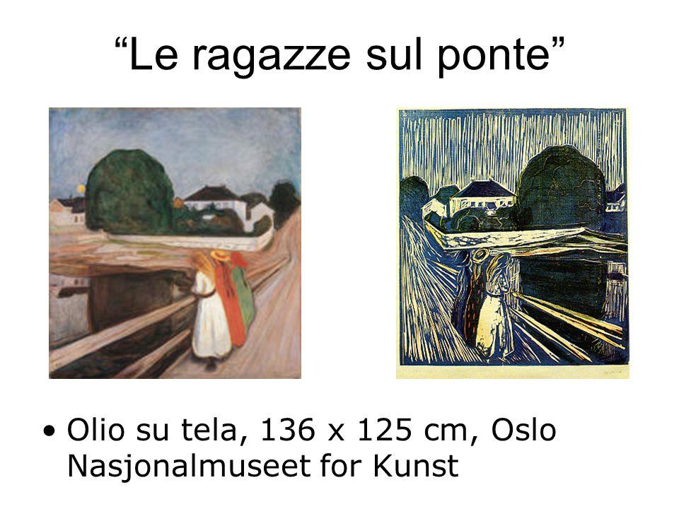 Le ragazze sul ponte Olio su tela, 136 x 125 cm, Oslo Nasjonalmuseet for Kunst