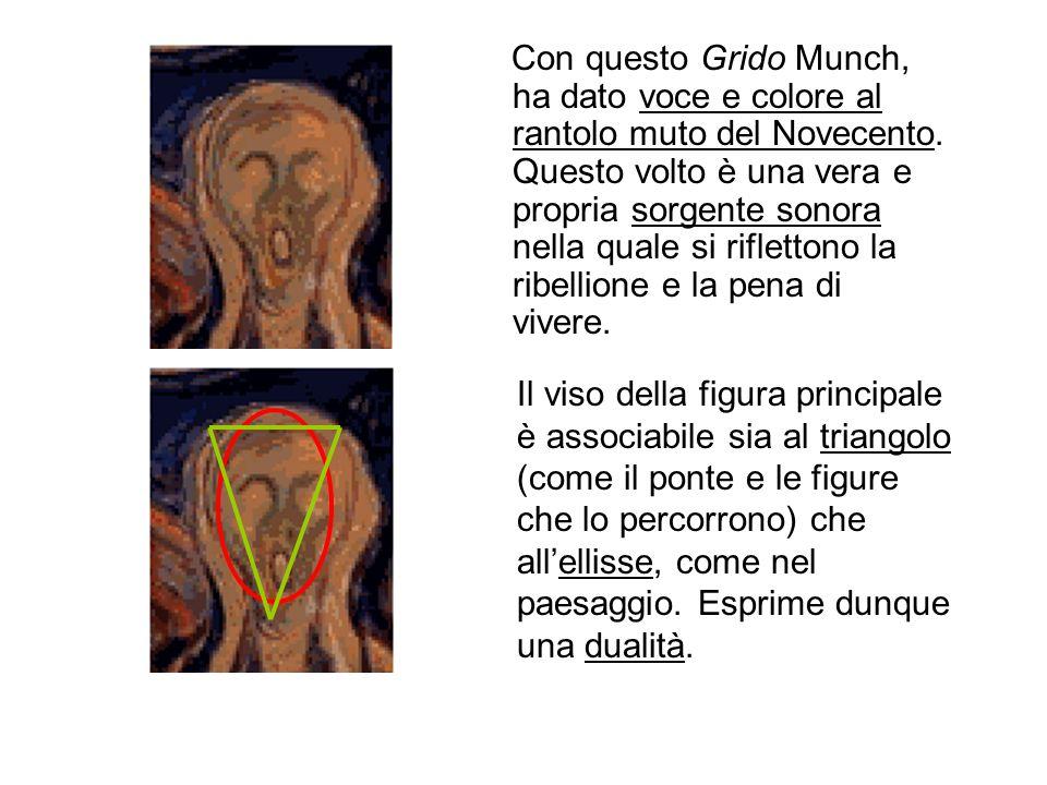 Con questo Grido Munch, ha dato voce e colore al rantolo muto del Novecento. Questo volto è una vera e propria sorgente sonora nella quale si riflettono la ribellione e la pena di vivere.