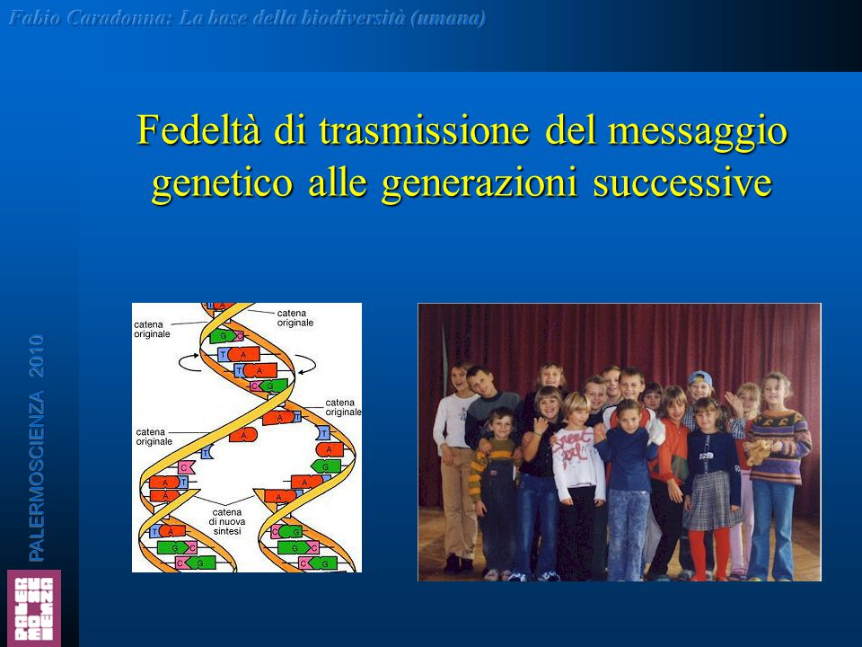 Fedeltà di trasmissione del messaggio genetico alle generazioni successive