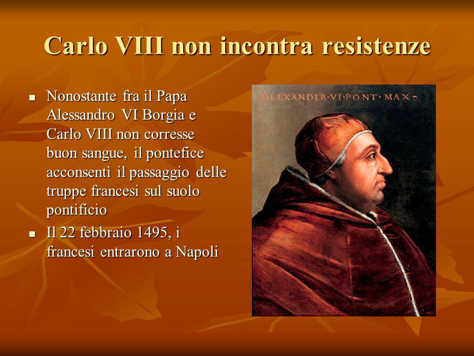 Carlo VIII non incontra resistenze