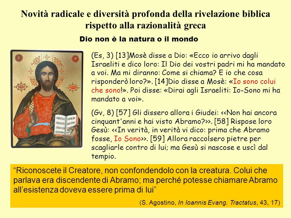 Dio non è la natura o il mondo