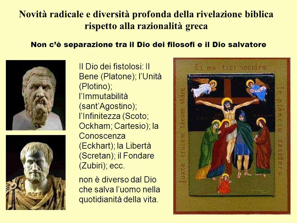 Non c'è separazione tra il Dio dei filosofi e il Dio salvatore