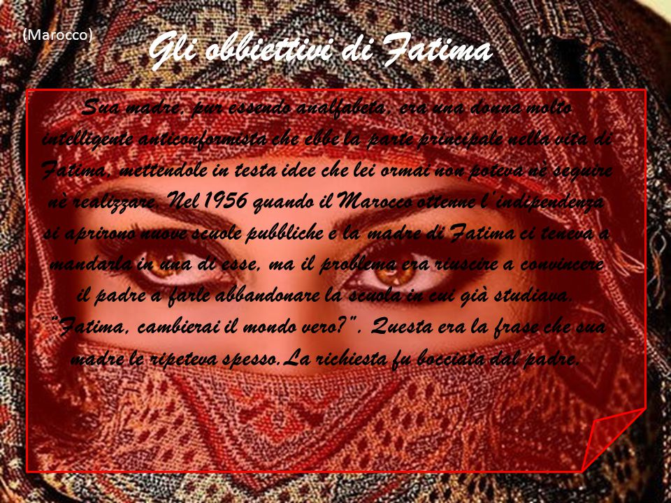 Gli obbiettivi di Fatima