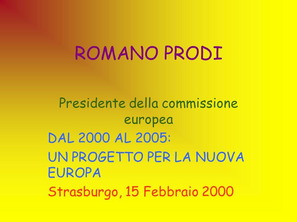 Presidente della commissione europea