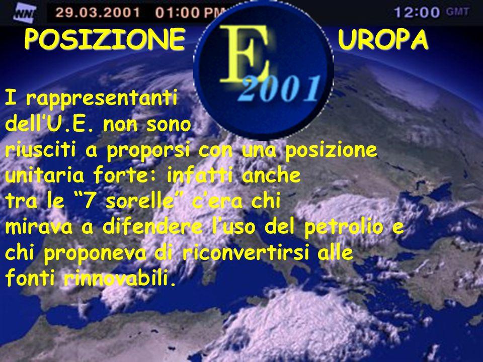 POSIZIONE UROPA I rappresentanti dell'U.E. non sono