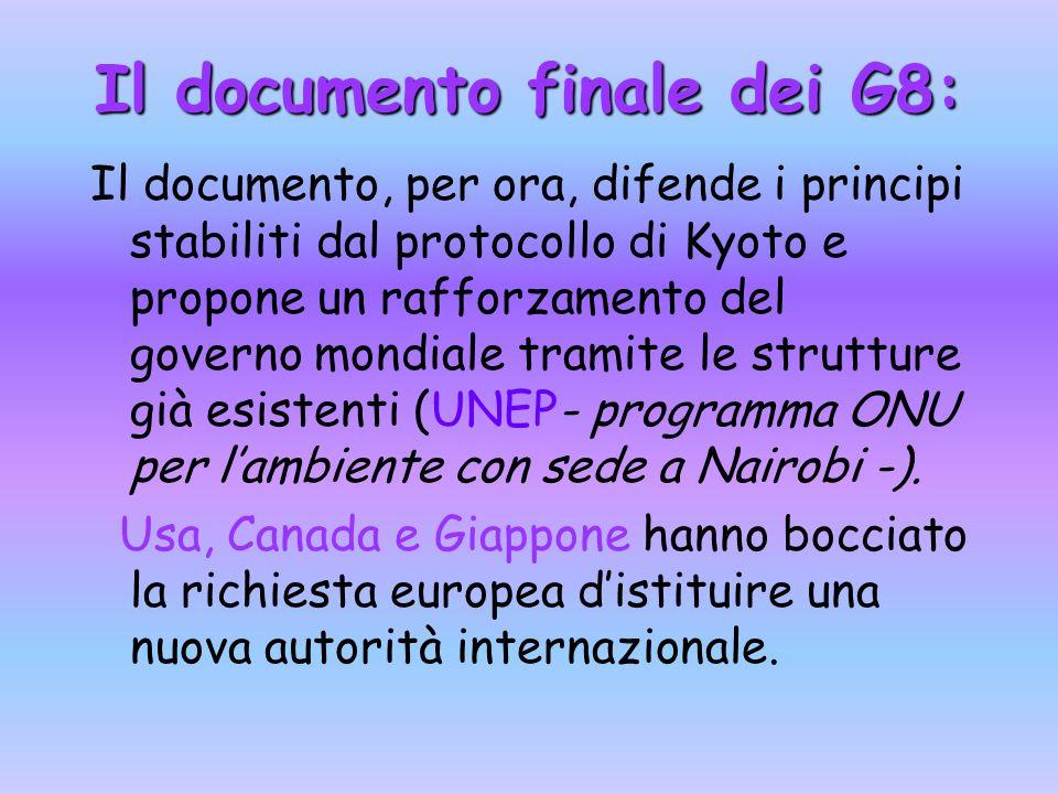 Il documento finale dei G8: