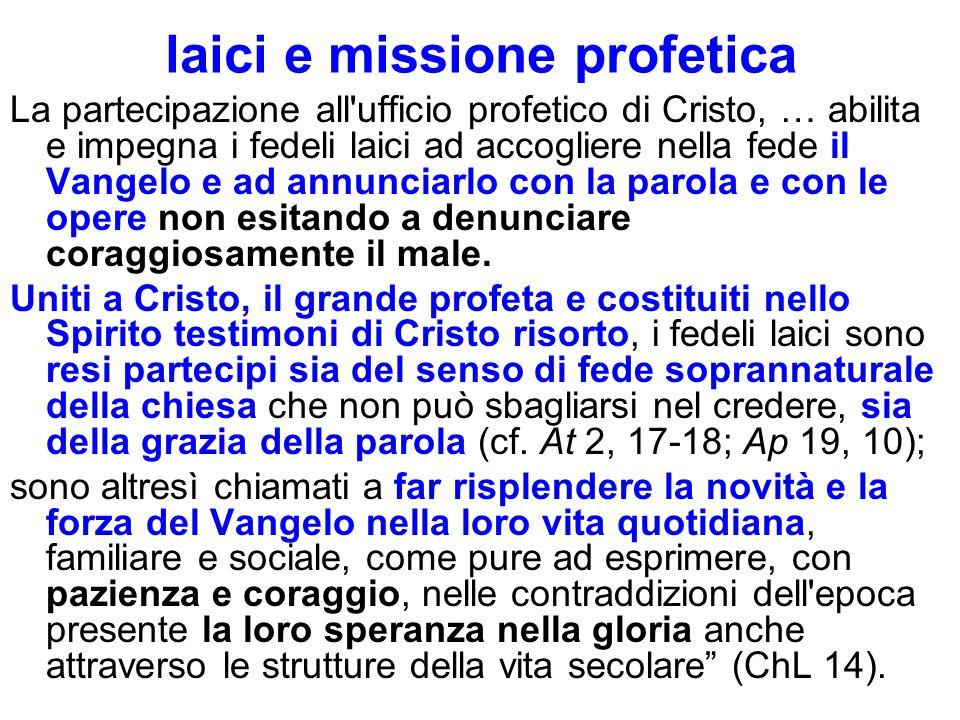 laici e missione profetica