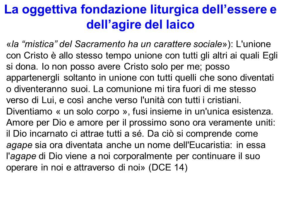 La oggettiva fondazione liturgica dell'essere e dell'agire del laico