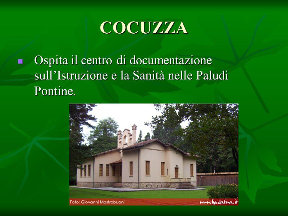 COCUZZA Ospita il centro di documentazione sull'Istruzione e la Sanità nelle Paludi Pontine.
