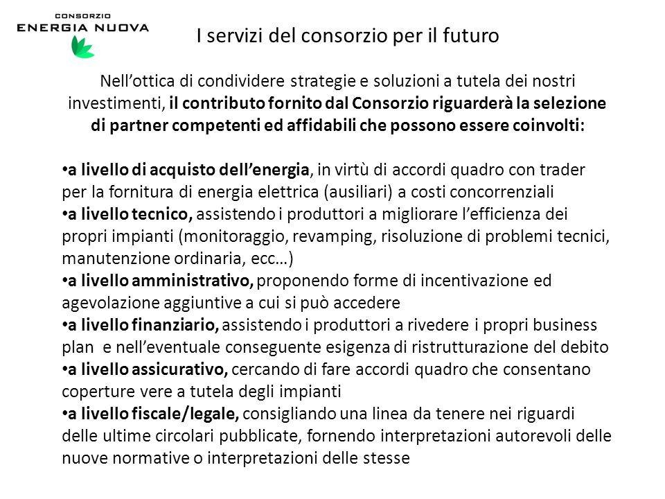 I servizi del consorzio per il futuro
