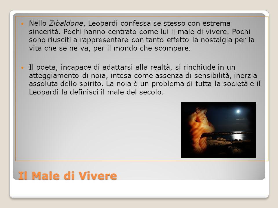 Nello Zibaldone, Leopardi confessa se stesso con estrema sincerità