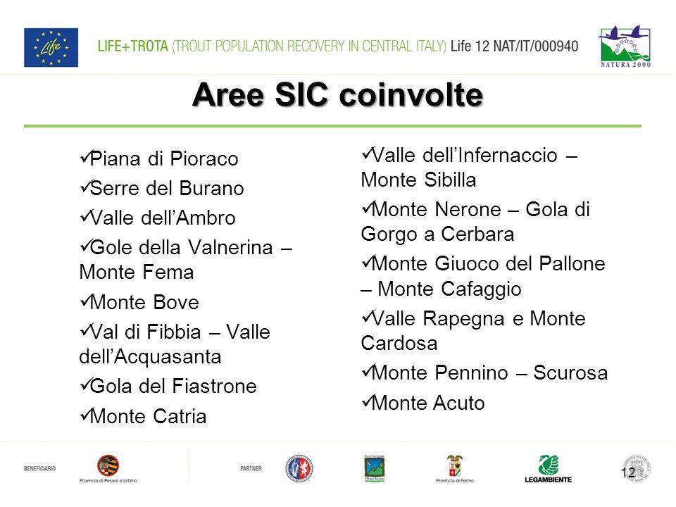 Aree SIC coinvolte Valle dell'Infernaccio – Monte Sibilla