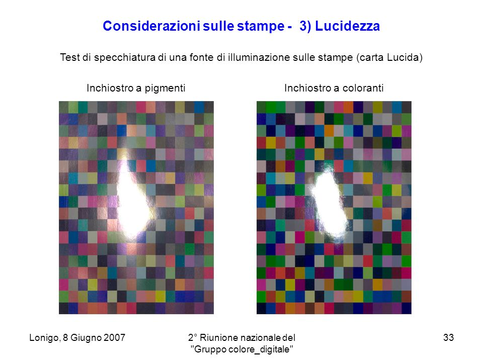 Considerazioni sulle stampe - 3) Lucidezza