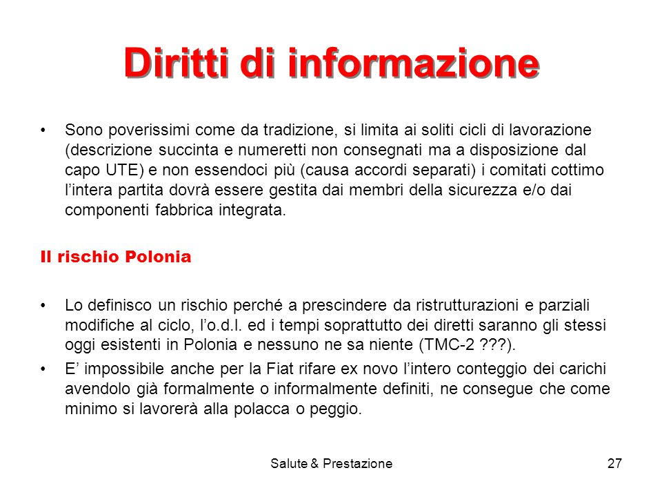Diritti di informazione
