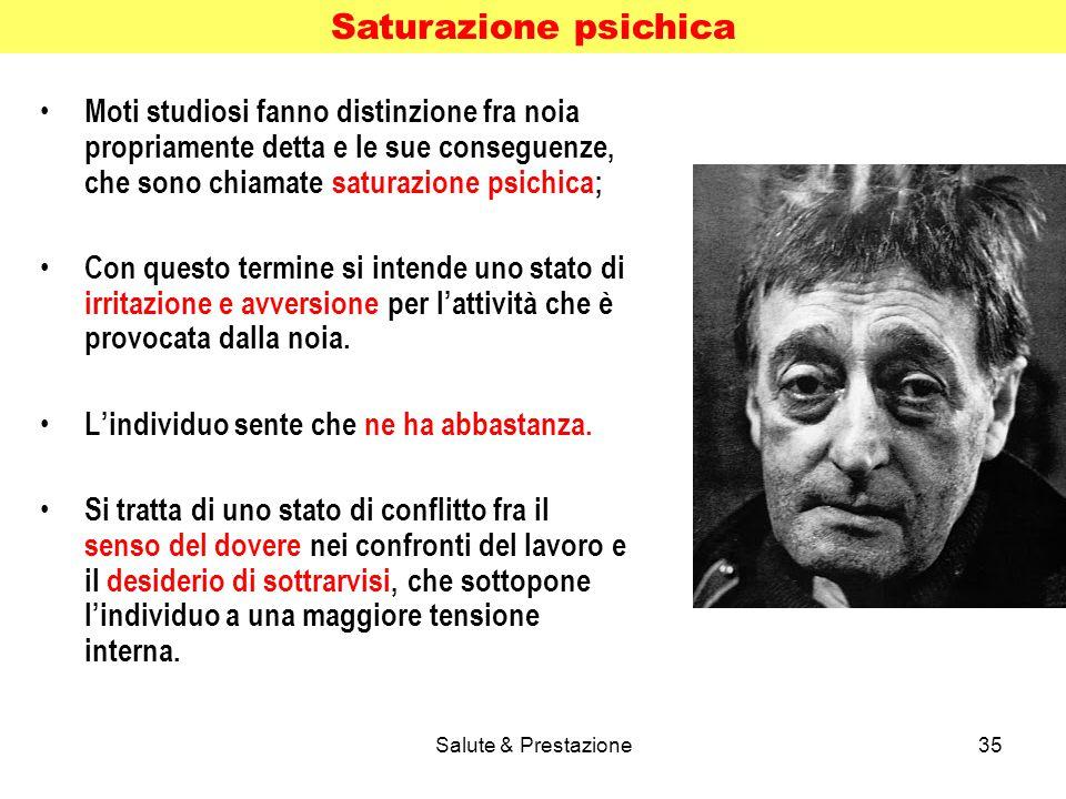 Saturazione psichica Moti studiosi fanno distinzione fra noia propriamente detta e le sue conseguenze, che sono chiamate saturazione psichica;