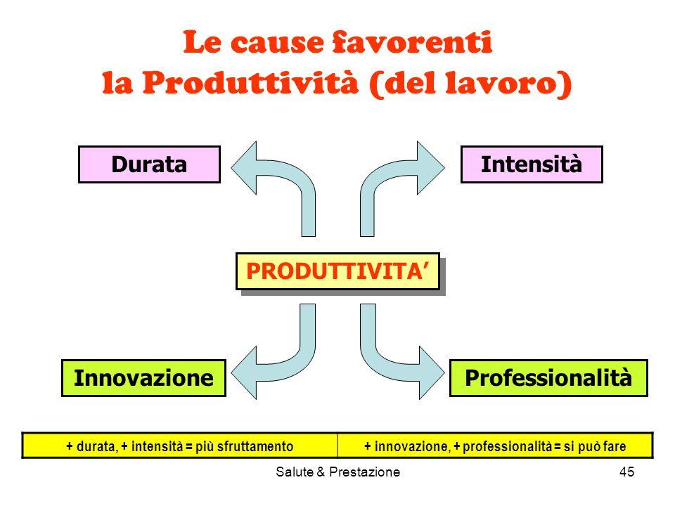 Le cause favorenti la Produttività (del lavoro)