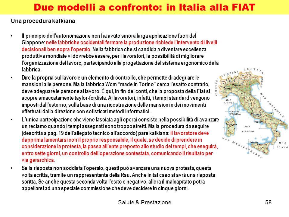 Due modelli a confronto: in Italia alla FIAT