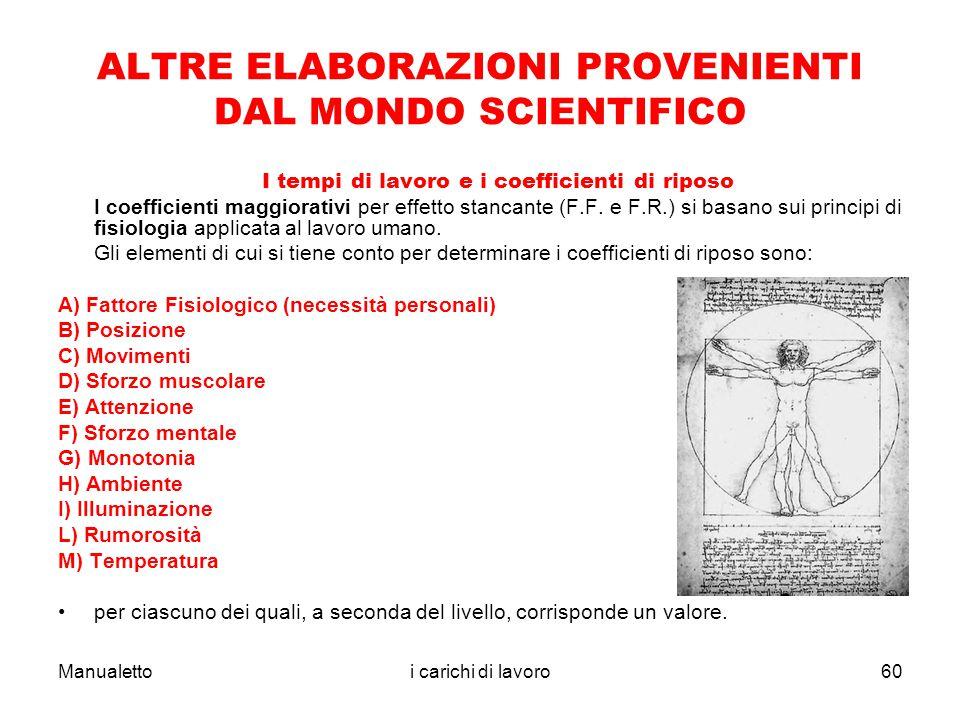 ALTRE ELABORAZIONI PROVENIENTI DAL MONDO SCIENTIFICO