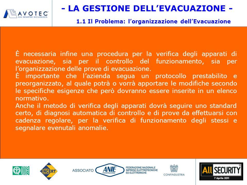 1.1 Il Problema: l'organizzazione dell'Evacuazione