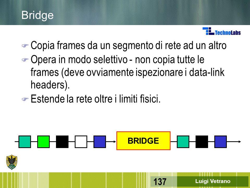 Copia frames da un segmento di rete ad un altro