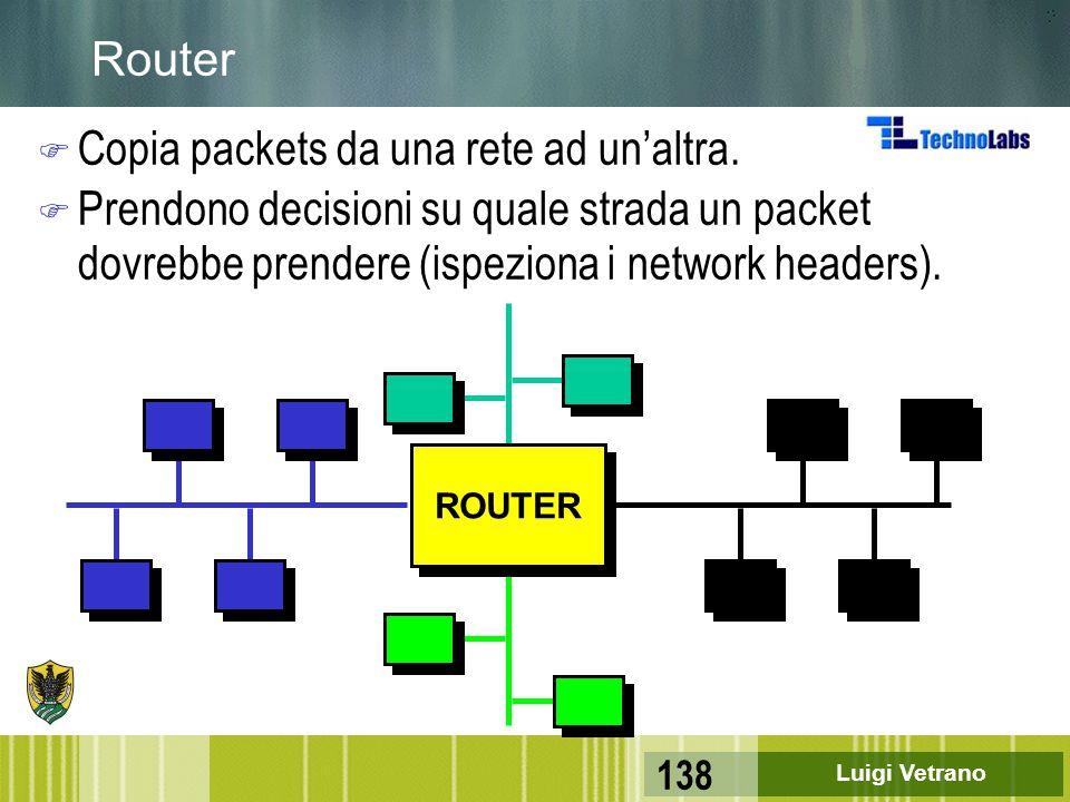 Copia packets da una rete ad un'altra.