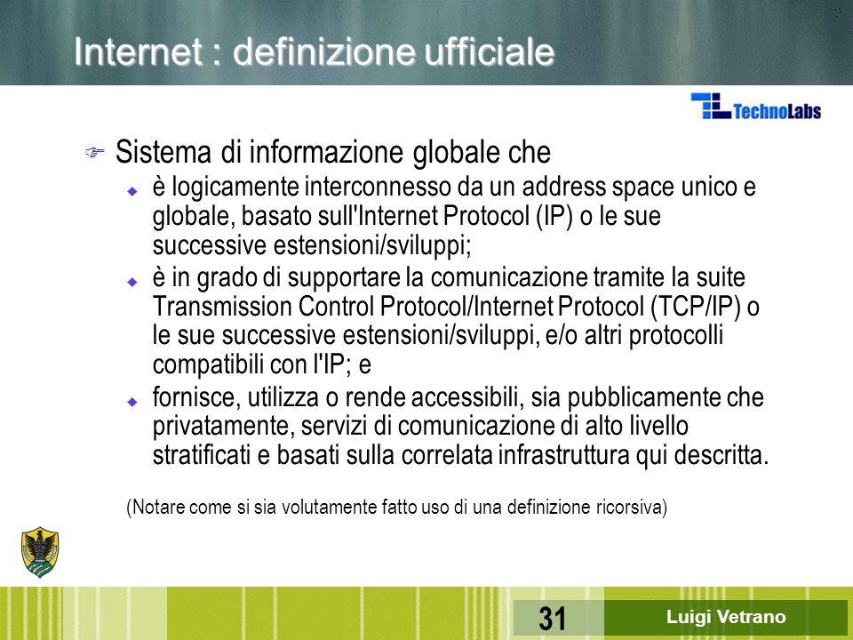 Internet : definizione ufficiale