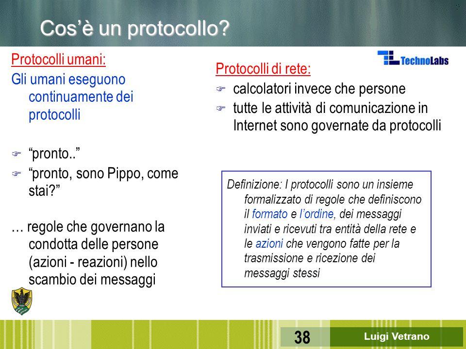 Cos'è un protocollo Protocolli umani: