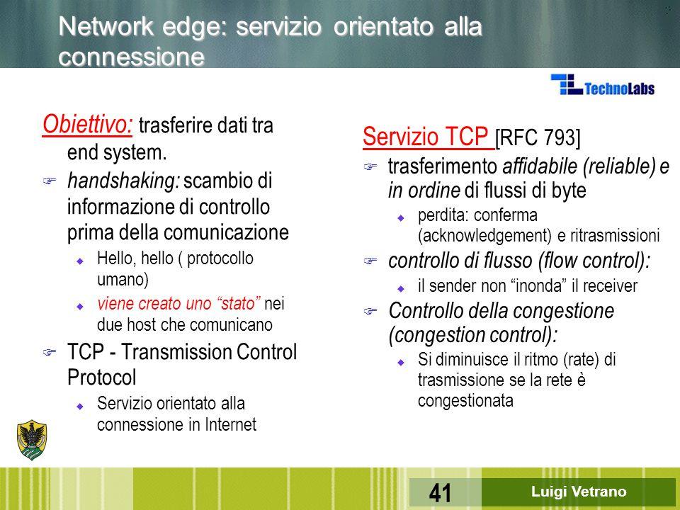 Network edge: servizio orientato alla connessione