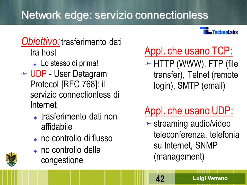 Network edge: servizio connectionless