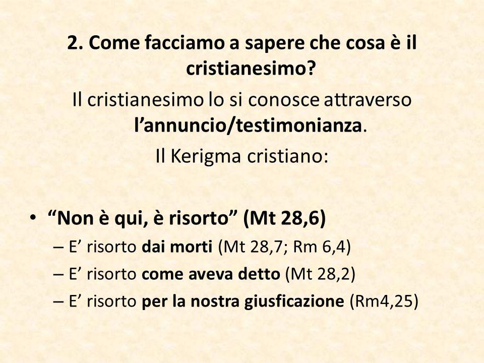 2. Come facciamo a sapere che cosa è il cristianesimo