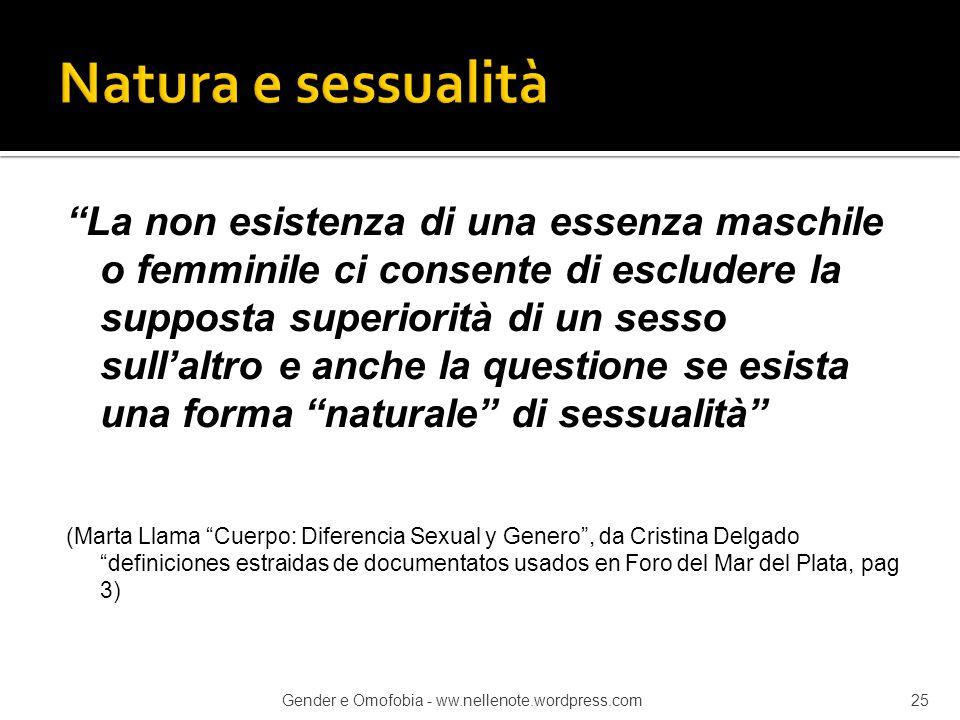Natura e sessualità
