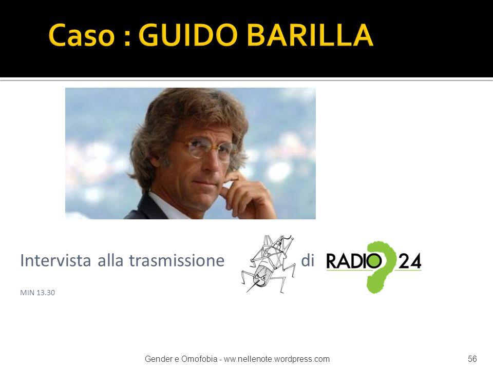 Caso : GUIDO BARILLA Intervista alla trasmissione di MIN 13.30
