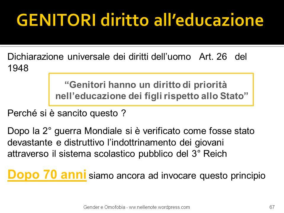 GENITORI diritto all'educazione