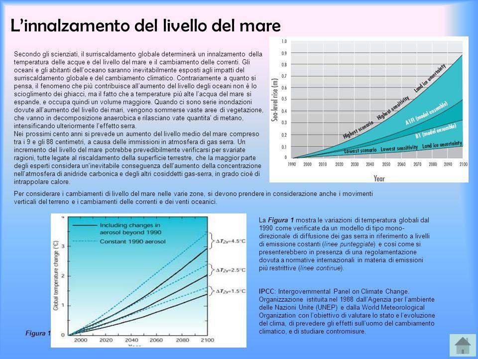 L'innalzamento del livello del mare