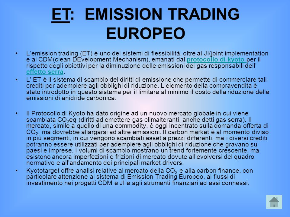 ET: EMISSION TRADING EUROPEO
