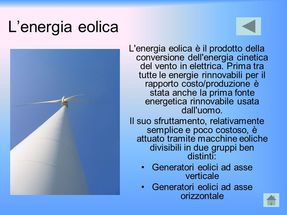 L'energia eolica