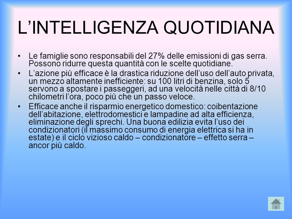 L'INTELLIGENZA QUOTIDIANA