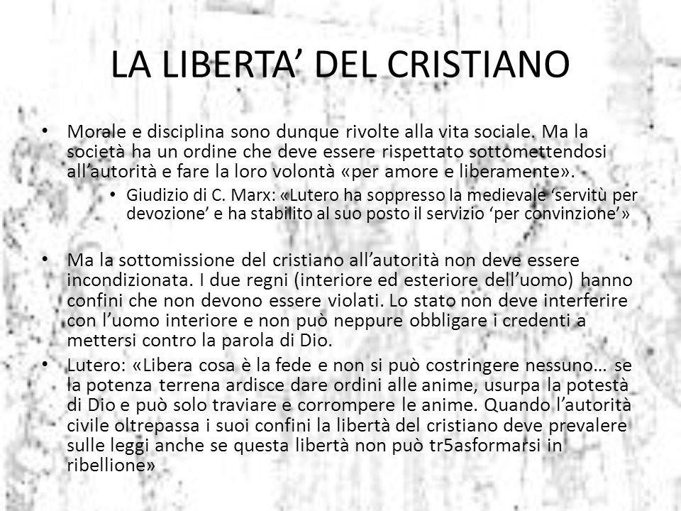 LA LIBERTA' DEL CRISTIANO