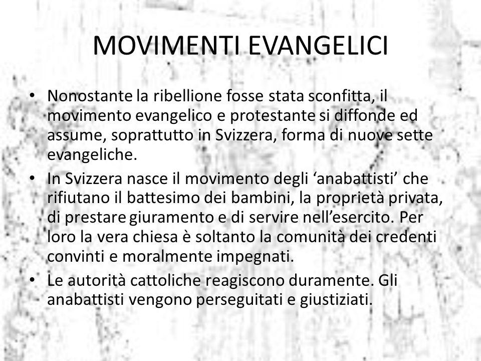 MOVIMENTI EVANGELICI