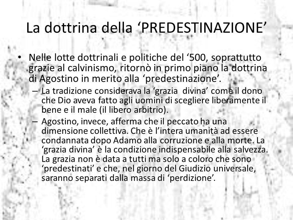 La dottrina della 'PREDESTINAZIONE'