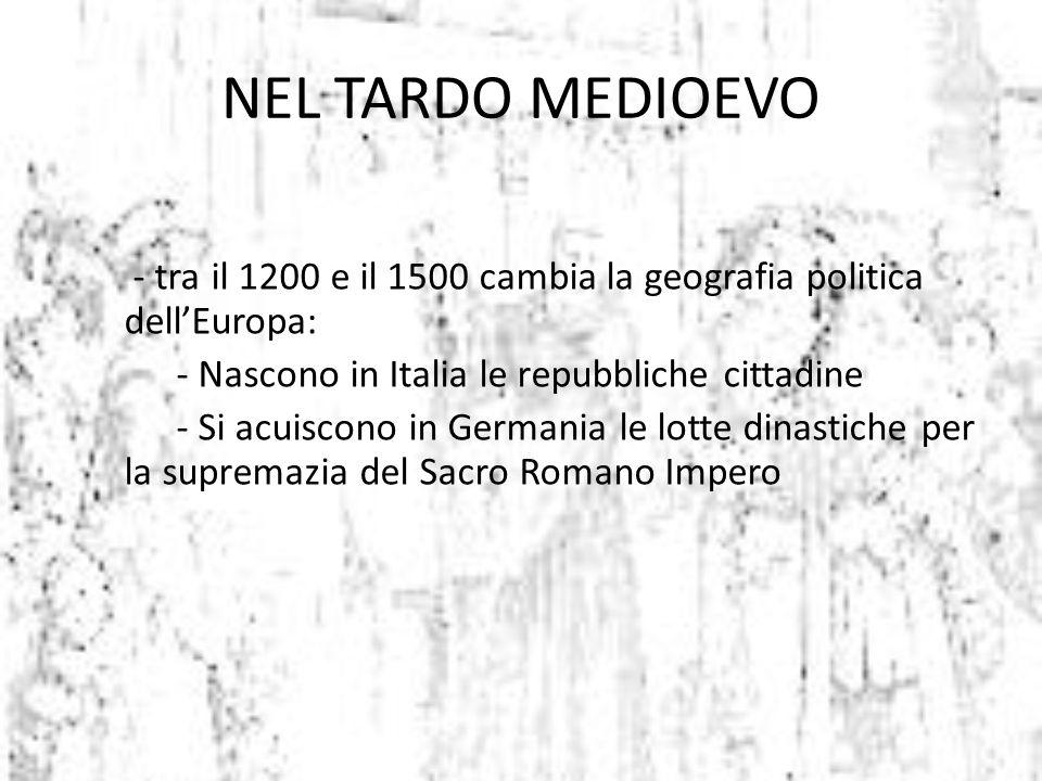 NEL TARDO MEDIOEVO