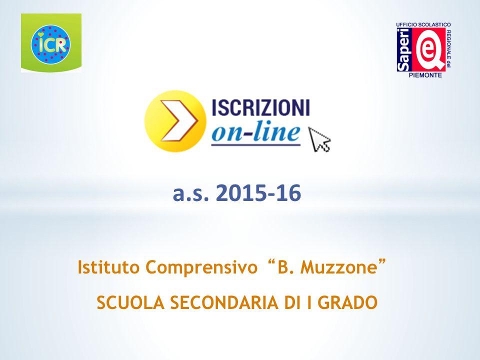 Istituto Comprensivo B. Muzzone SCUOLA SECONDARIA DI I GRADO