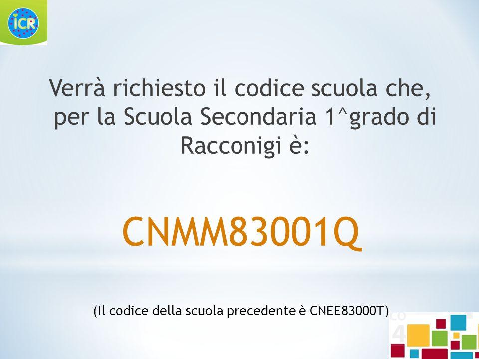 (Il codice della scuola precedente è CNEE83000T)