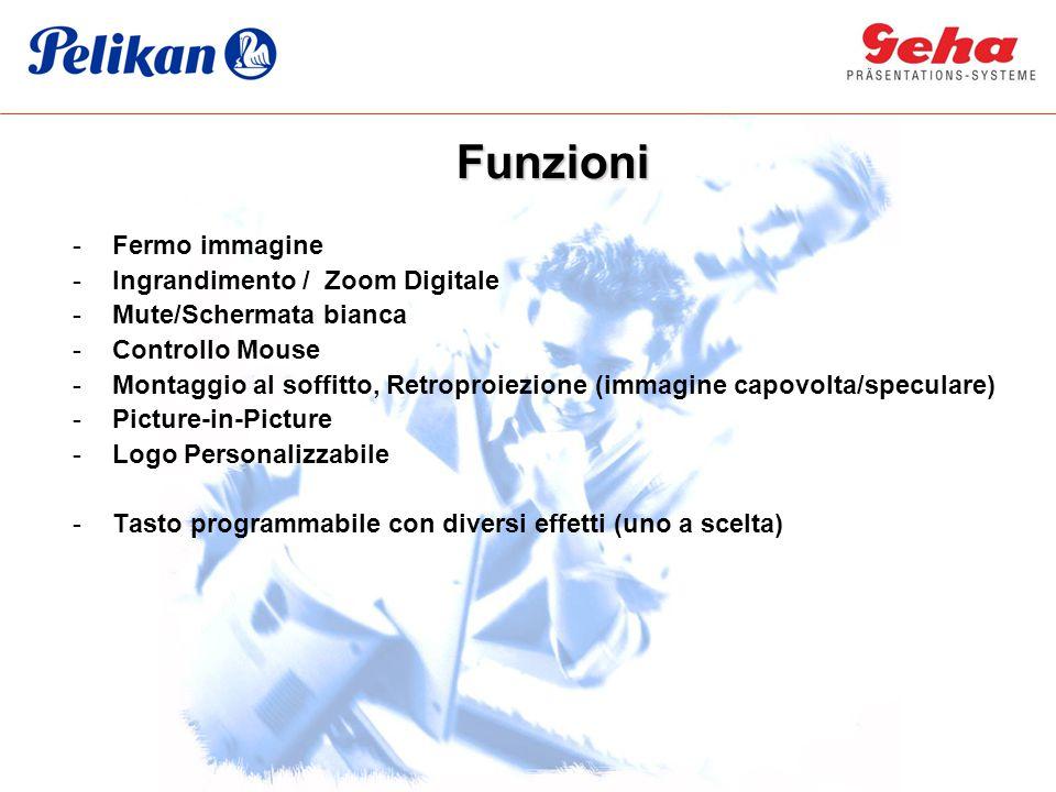 Funzioni Fermo immagine Ingrandimento / Zoom Digitale