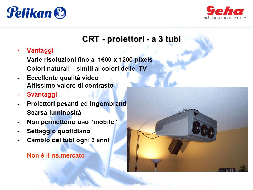 CRT - proiettori - a 3 tubi