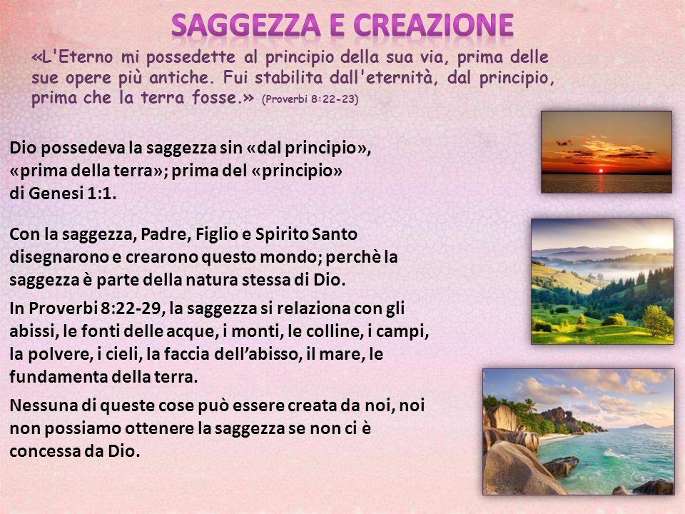 SAGGEZZA E CREAZIONE