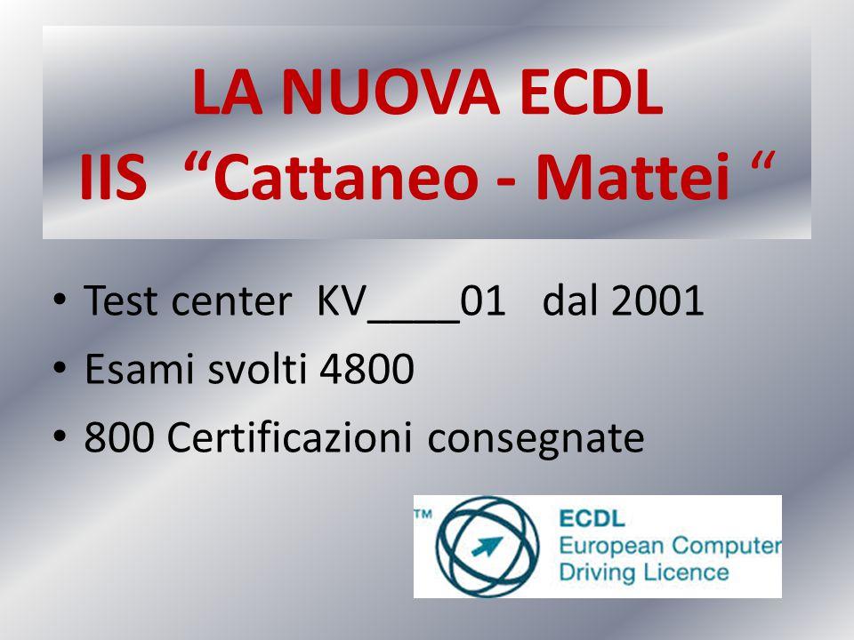 LA NUOVA ECDL IIS Cattaneo - Mattei