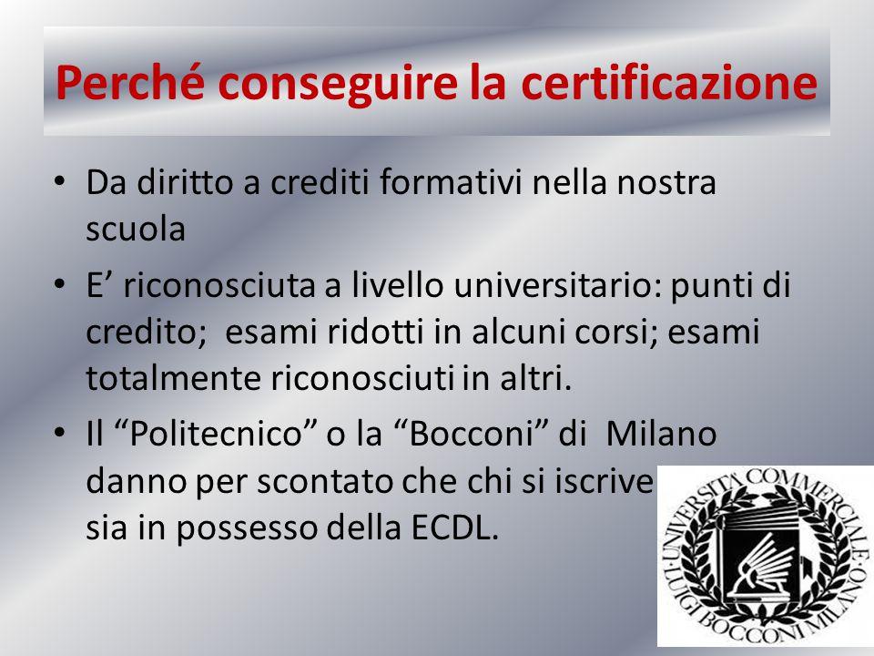 Perché conseguire la certificazione
