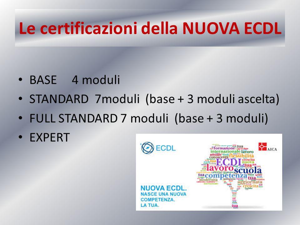 Le certificazioni della NUOVA ECDL